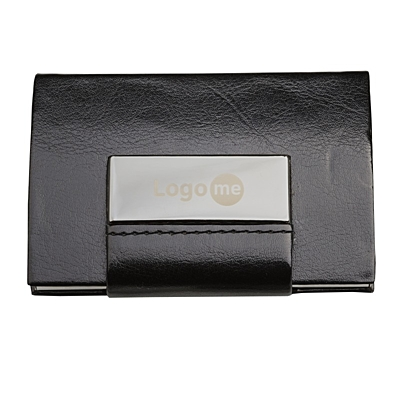 LOGOMALL business card case,  black