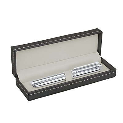 STYLE gift set with ball and ceramic pen,  graphite/silver