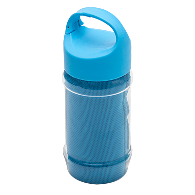 FEEL LIKE NEW sports bottle with a towel to refresh,  blue