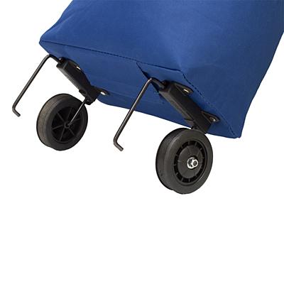 CLANTON shopping bag on wheels,  blue