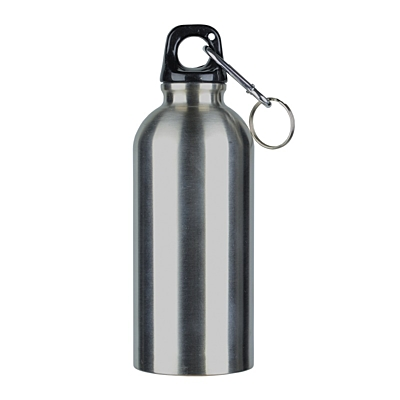 SAFE TRIPPING sports bottle 400 ml,  silver