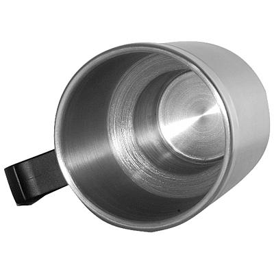 AUTO STEEL MUG thermo mug 450 ml with car charging,  silver/black
