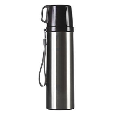 PICNIC PAL thermos with mug 600 ml,  silver