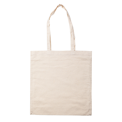 COTTON LONG shopping bag from cotton, beige