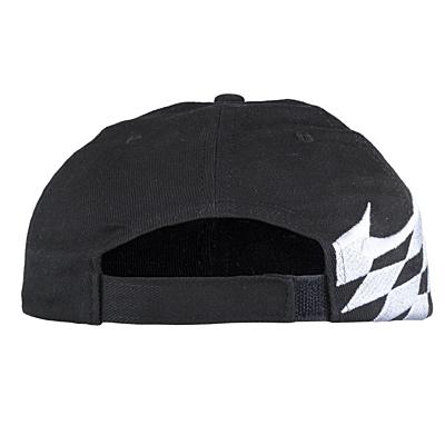 RALLY 6 panel cap,  black