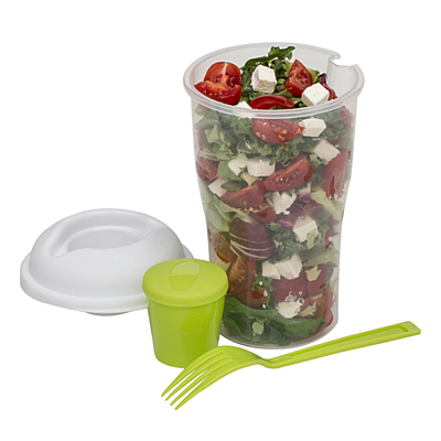 FOODIES salad bowl with fork,  green