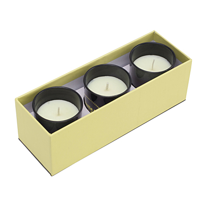 SCENTED SET set of perfumed candles,  beige