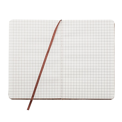 MONTIEL notebook with squared pages 90x140 / 160 pages,  brown