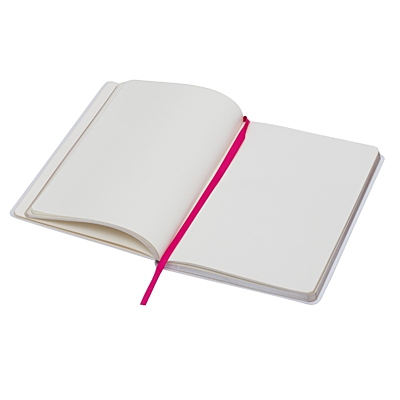 VALLADOLID notebook with clean pages 130x210 / 160 pages,  white