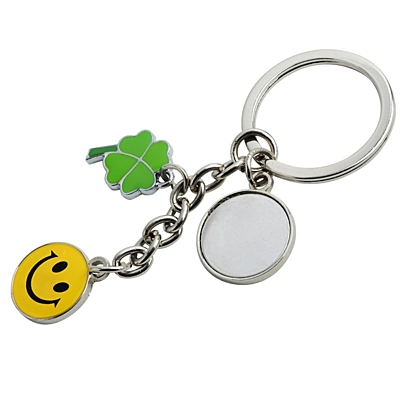 LUCK metal key ring,  silver