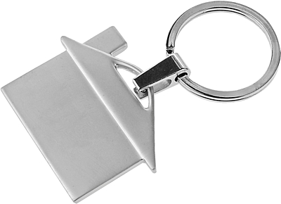 HOUSE RING key ring,  silver