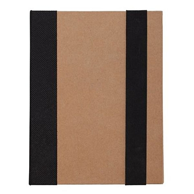ECO NOTE notebook with paper notes,  black/beige