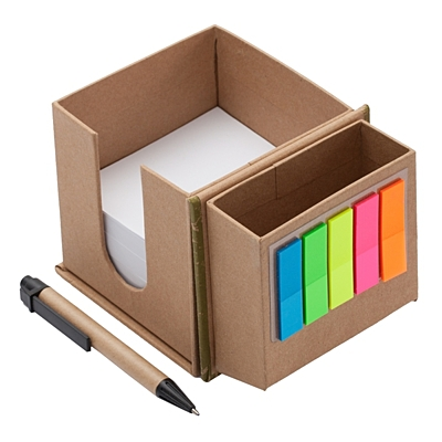 MEMO BOX set of sticky notes and paper notes,  beige