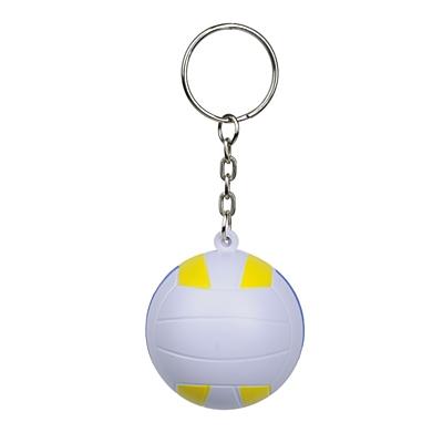 VOLLEY anti-stress toy key ring,  white