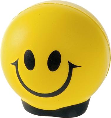 HAPPY antistress toy,  yellow/black