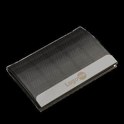 EMBOSS business card case,  black