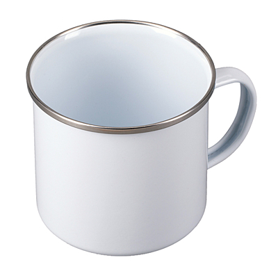 OLDIE enamel mug, white