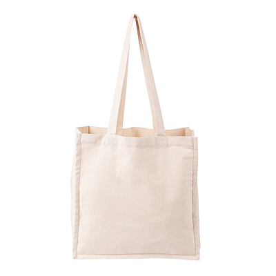 COTTON NATURE shopping bag from cotton, beige