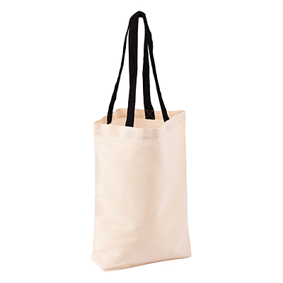 ECO MATE shopping bag from cotton, black