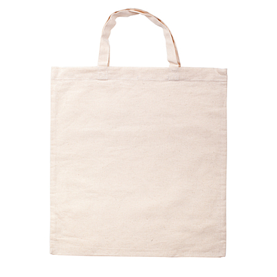 COTTON SHORT shopping bag from cotton, beige