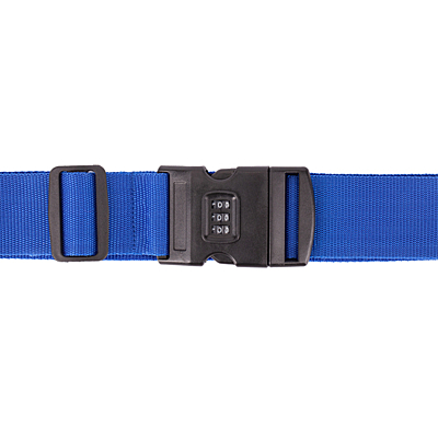 SUITCASE TIGHT suitcase belt with lock, blue