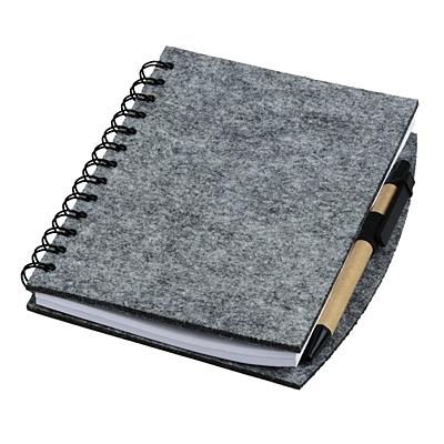 ECO SENSE felt notebook,  grey