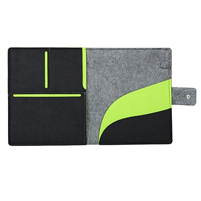 ECO TAB felt tablet cover,  grey/green