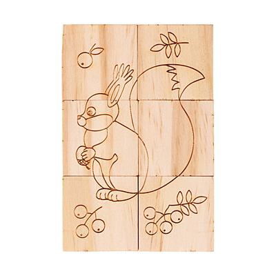 ANIMAL WORLD wooden puzzle, beige