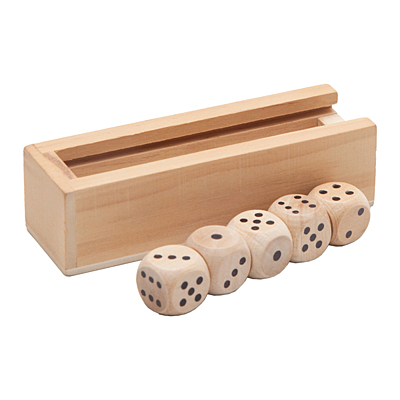 ROLL set of playing cubes,  brown