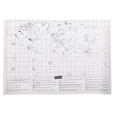ROLLING STONE scratch map, brown