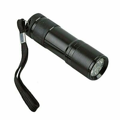 SURVIVOR set of tools and flashlight,  black