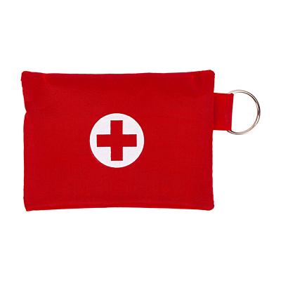LIFE SAVER CPR mask set, red