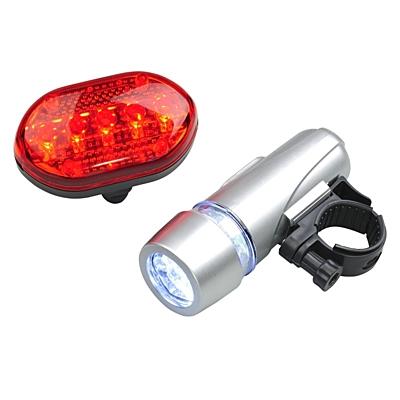 BIKER LIGHT set of lights for bike,  silver