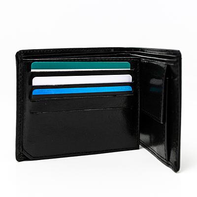 DUKE leather wallet,  black
