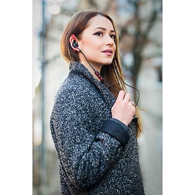 SOUNDBLASTER headphones,  red/black