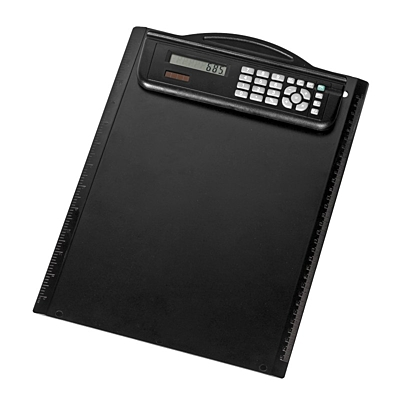 MEETINGMATE writing pad with calculator,  black