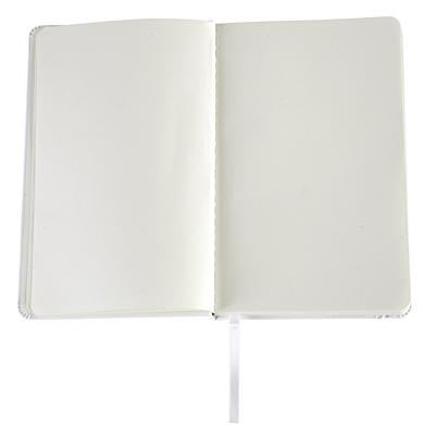 SEGOVIA notebook with clear pages 90x140 / 160 pages,  white