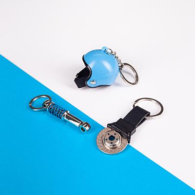 SPRING metal key ring, silver