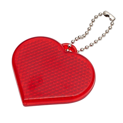 HEART REFLECT key ring,  red