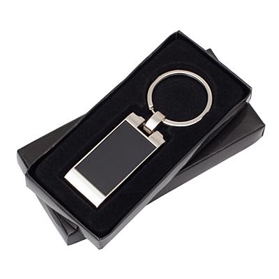 FORTE metal key ring,  black