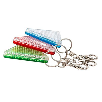 SAFE reflective key ring