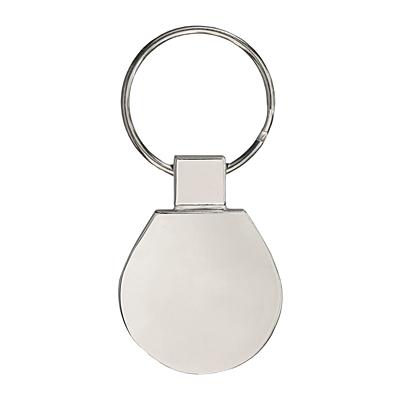 METAL PROMO metal key ring,  silver