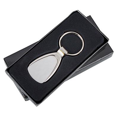 IDEA metal key ring,  silver