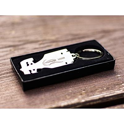 RACE metal key ring,  silver