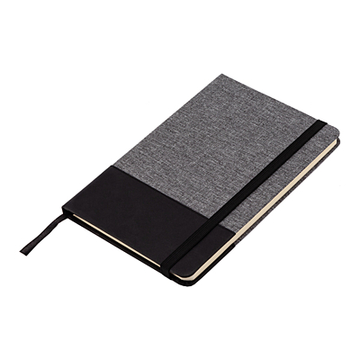 AMADORA notebook with lined pages 140x210 / 160 pages,  grey