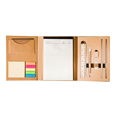SUSTAIN office set with notepad, beige