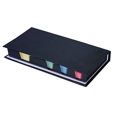 TOTAL set of sticky notes,  black