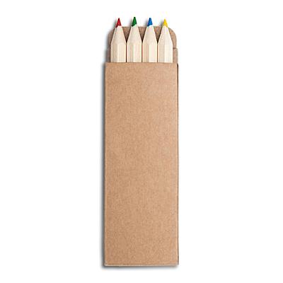 COLLOUR set of crayons,  brown
