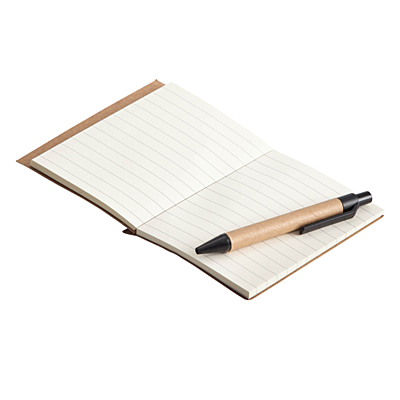 ECO LA LINEA notebook with clean pages 110x150 / 160 pages with pen