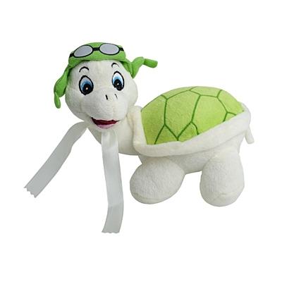 TORTOISE plush toy,  green/white